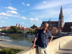 On the stone bridge (Roman) at Regensburg