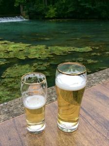 Literally, the bikers, drink ( beer & lemon fizz)