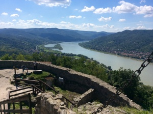 "View of Danube ""knee"" from Visegrad castle"