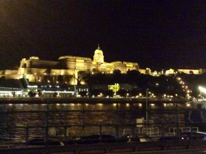 Pest from Buda at night
