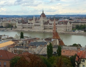 View over Danube to Parliament