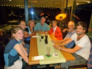 dinner with the Schmitz family the last evening