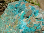 turquoise in rock